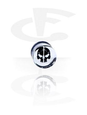 Tunnel & Plug, Plug con teschio nero, Acryl