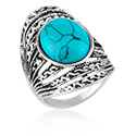 Sormukset, Ring, Alloy Steel, Synthetic Stone