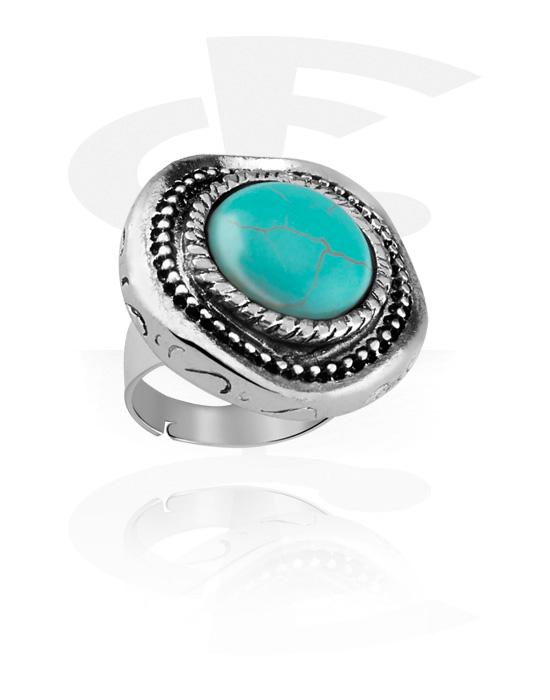 Prsteny, Ring, Legovaná ocel, Syntetický kámen