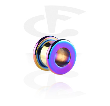 Tunnels & Plugs, Round Anodized Tunnel, Surgical Steel 316L