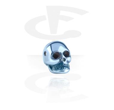 Kuglice i zamjenski nastavci, Anodized Skull for Ball Closure Rings, Surgical Steel 316L