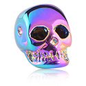 Balls & Replacement Ends, Anodized Skull for Ball Closure Rings, Surgical Steel 316L
