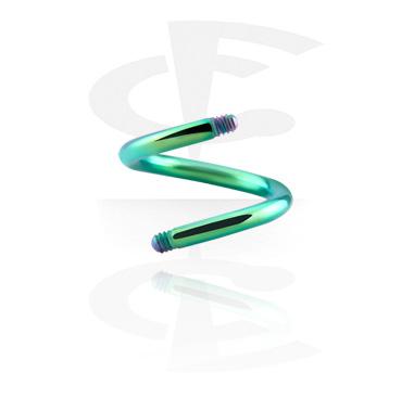 Eloxierter Spiralen-Stab