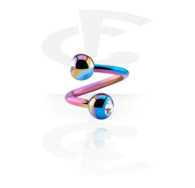 Anodized Spiral con jewelled balls