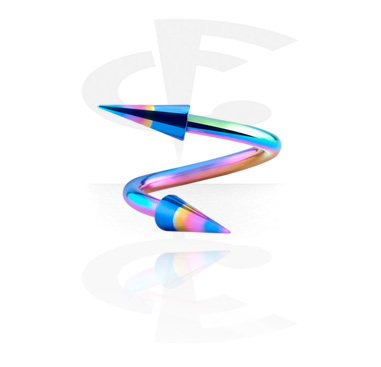Anodised Spiral with Anodised Long Cones
