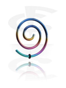 Accessoires pour étirer, Spirale pour étirement du lobe, Acier chirurgical 316L
