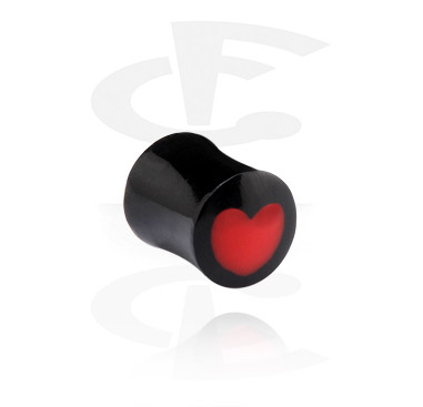 Flared Plug with heart