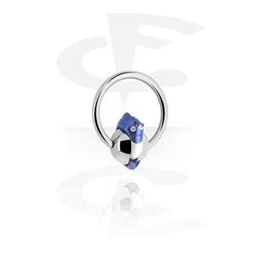 Ball Closure Ring met Anodised Dolphin