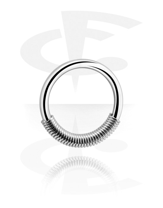 Piercing Rings, Spring Closure Ring, Surgical Steel 316L