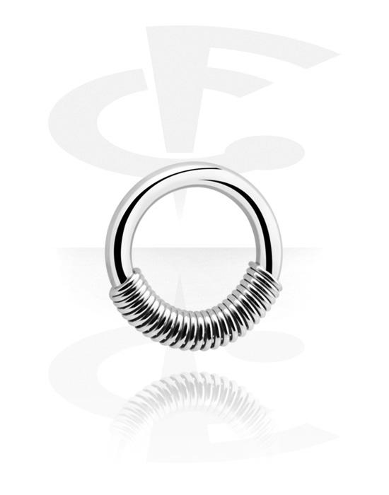 Piercingové kroužky, Spring Closure Ring, Chirurgická ocel 316L