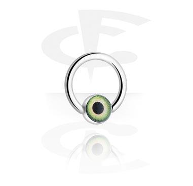 Kroužek s kuličkou v podobě oka