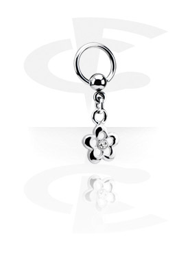 Ball Closure Ring con Charm