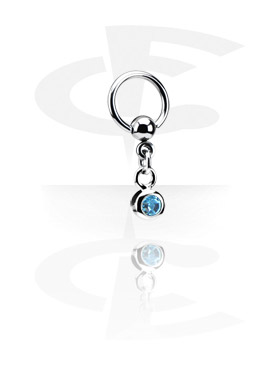 Piercing Rings, Ball Closure Ring with Charm, Surgical Steel 316L