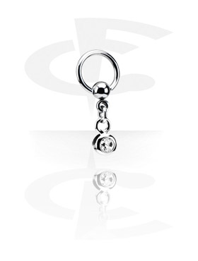 Ball Closure Ring com Charm