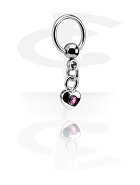 Piercing Anillos, Ball Closure Ring con Charm, Acero quirúrgico 316L