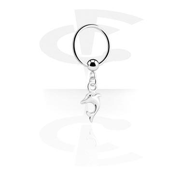 Ball Closure Ring con Charm