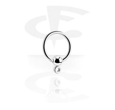 Boules et Accessoires, Ball closure ring avec œillet, Acier chirurgical 316L