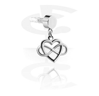 Earphone Plug Charm  s Heart Design