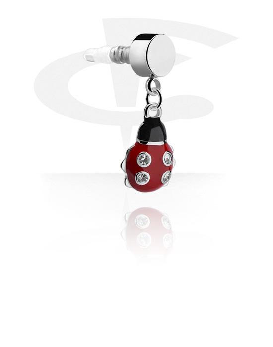 Accessori per cellulari, Accessorio copri presa per auricolare, Acciaio chirurgico 316L