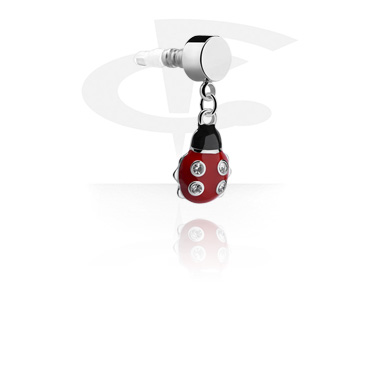 Phone Accessories, Earphone Plug Charm , Surgical Steel 316L