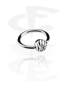 Anneaux, Picture Ball Closure Ring, Acier chirurgical 316L