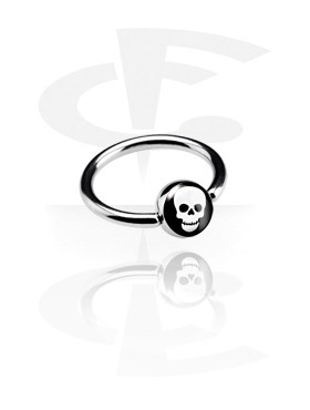 Alke za piercing, Picture Ball Closure Ring, Surgical Steel 316L