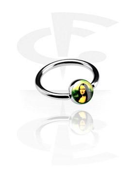 Кольцо с застежкой - шариком
