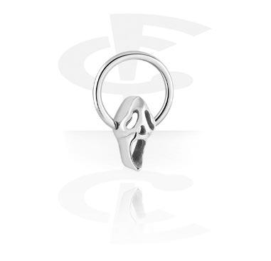 Piercing Anelli, BCR con Steel Cast Attachment, Chirurgico acciaio 316L
