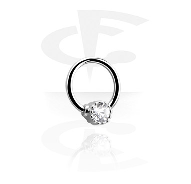 Ball closure ring avec boule strass