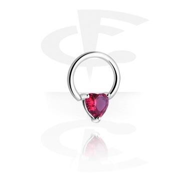 Кольцо с застежкой - сердцем