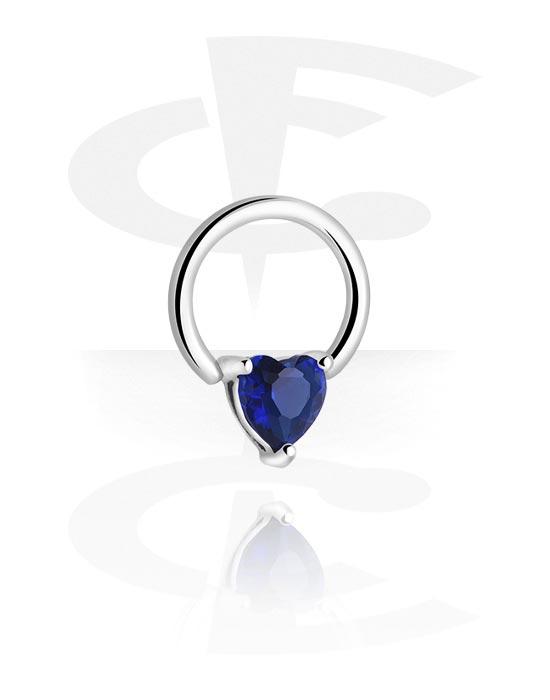 Piercingové kroužky, Ball closure ring s Heart Design, Chirurgická ocel 316L