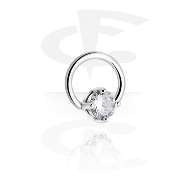Piercing Rings, BCR with Steel Cast Attachment, Surgical Steel 316L