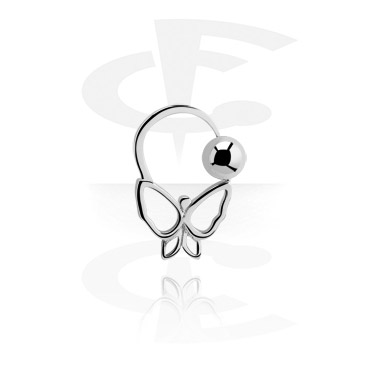 Alke za piercing, Ball Closure Ring, Surgical Steel 316L