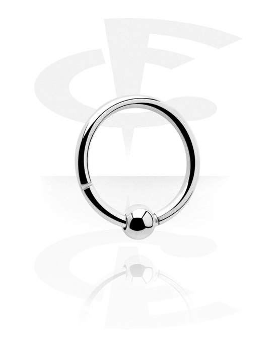 Piercing Rings, Multi-Purpose Clicker with Ball, Surgical Steel 316L