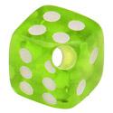 Boules et Accessoires, Dice for Ball Closure Rings, Acrylique