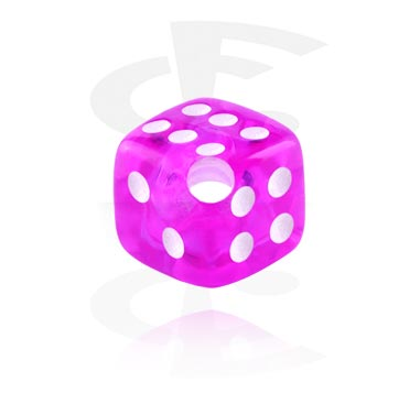 Pallot ja koristeet, Dice for Ball Closure Rings, Acryl