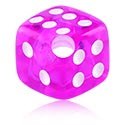 Balls & Replacement Ends, Dice for Ball Closure Rings, Acrylic