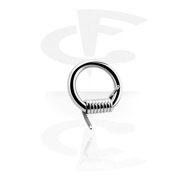 Piercing Rings, Barbed Wire Closure Ring, Surgical Steel 316L