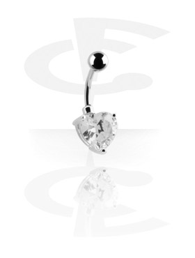 Banany, Banana with Cubic Zirconia, Surgical Steel 316L