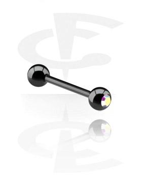 Barbell nero con brillantino