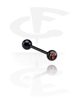 Barbell negro con imagen