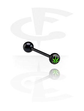 Black Logo Barbell