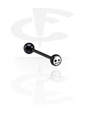 Šipkice, Crna šipkica s logotipom, Surgical Steel 316L