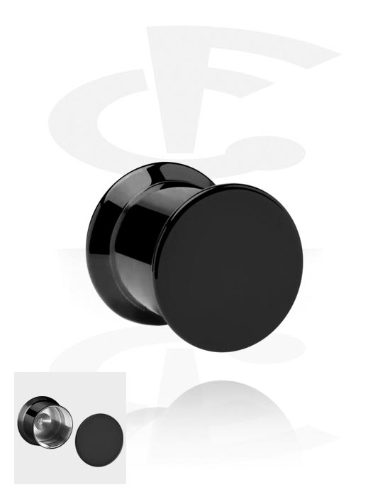 Tunnelit & plugit, Box Plug, Stainless Steel