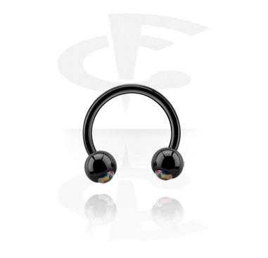 Black circular barbell