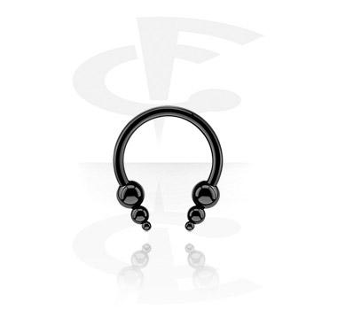 Circular Barbells, Black circular barbell, Surgical Steel 316L