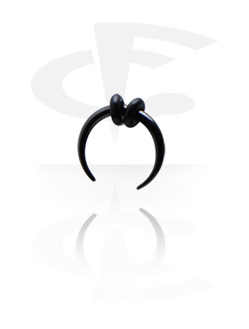 Rozpychacze, Black Circular Claw, Surgical Steel 316L