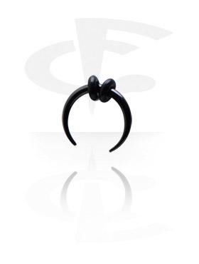 Accesorios para dilatar, Claw circular negro, Acero quirúrgico 316L