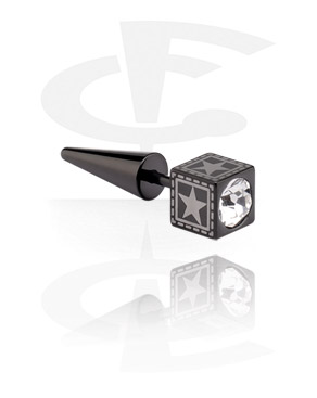 Black Jewelled Fake Expander