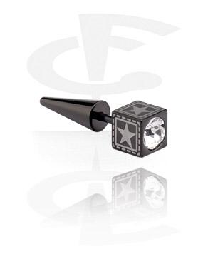 Faux expander noir avec pierres en cristal